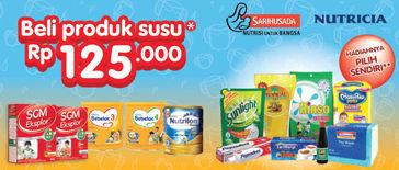 Promo Harga SGM Produk Susu Sari Husada / Nutricia + Hadiah  - Indomaret
