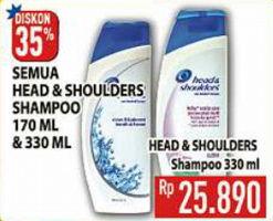 Promo Harga HEAD & SHOULDERS Shampoo All Variants 330 ml - Hypermart