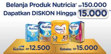 Promo Harga NUTRILON NUTRICIA All Product (Nutrilon / Bebelac)  - Indomaret