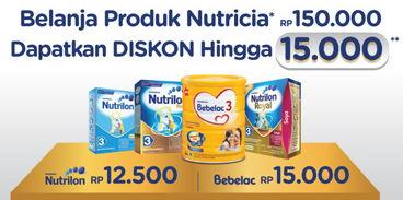 Promo Harga NUTRILON NUTRICIA Product (Nutrilon Royal / Soya , Bebelac 3 / 4)  - Indomaret