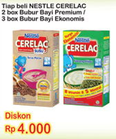Promo Harga NESTLE CERELAC Bubur Bayi Premium, Ekonomis  - Indomaret