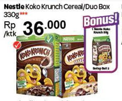 Promo Harga NESTLE KOKO KRUNCH Nestle Koko Krunch Cereal/Duo  - Carrefour