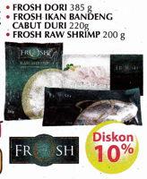 Promo Harga FROSH Frosh Dori/Ikan Bandeng Cabut Duri/Raw Shrimp  - Giant