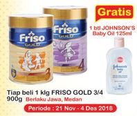 Promo Harga FRISO Gold 3/4 Susu Pertumbuhan All Variants 900 gr - Indomaret