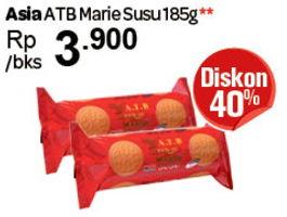 Promo Harga ASIA ATB Marie Susu 185 gr - Carrefour