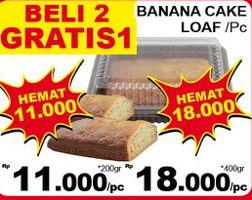 Promo Harga Banana Cake Loaf  - Giant