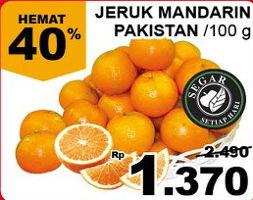 Promo Harga Jeruk Mandarin Pakistan per 100 gr - Giant