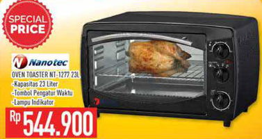 Promo Harga NANOTEC NT-1277 | Oven Toaster  - Hypermart