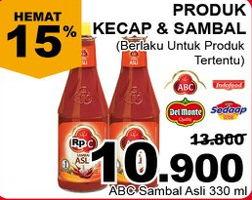 Promo Harga ABC Sambal Asli 335 ml - Giant