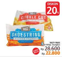 Promo Harga TASTY FRIES Crinkle, Shoestring  - LotteMart
