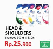 Promo Harga HEAD & SHOULDERS Shampoo 300 ml - Yogya