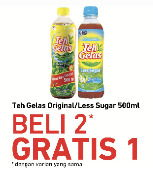 Promo Harga TEH GELAS Teh Gelas Original/Less Sugar  - Carrefour