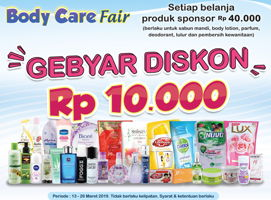 Promo Harga NATUR-E Body Care Fair  - Indomaret