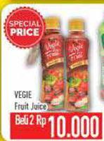 Promo Harga LOVE JUICE Vegie Fruit per 2 botol - Hypermart