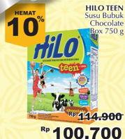 Promo Harga HILO Teen Chocolate 750 gr - Giant