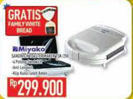 Promo Harga MIYAKO TSK-258 Sandwich Toaster  - Hypermart