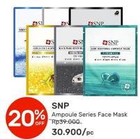 Promo Harga SNP Ampoule Series Face Mask  - Guardian