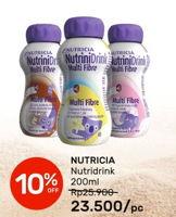 Promo Harga NUTRICIA Nutrinidrink UHT Cokelat, Vanila, Stroberi 200 ml - Guardian