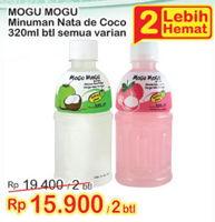 Promo Harga MOGU MOGU Minuman Nata De Coco All Variants per 2 botol 320 ml - Indomaret