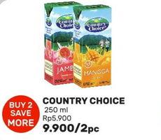Promo Harga COUNTRY CHOICE Jus Buah per 2 box 250 ml - Guardian