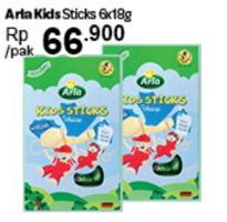 Promo Harga ARLA Kids Sticks per 6 sachet 18 gr - Carrefour