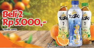 Promo Harga YUZU Tea  / Isotonik per 2 botol 350 ml - TIP TOP
