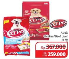 Promo Harga ALPO Makanan Anjing Chicken, Beef 10 kg - Lotte Grosir