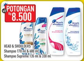 Promo Harga HEAD & SHOULDERS Head & Shoulders Shampoo/Shampoo Supreme  - Hypermart