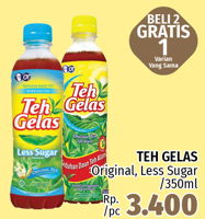 Promo Harga TEH GELAS Teh Gelas Original, Less Sugar  - LotteMart