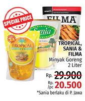 Promo Harga TROPICAL Tropical, Sania, Filma Minyak Goreng  - LotteMart