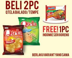 Promo Harga QTELA Qtela Balado/ Tempe  - Alfamart