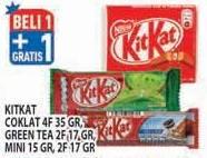 Promo Harga KIT KAT Kit Kat Coklat, Green Tea, Mini  - Hypermart