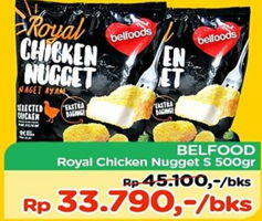 Promo Harga BELFOODS ROYAL Chicken Nugget 500 gr - TIP TOP