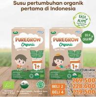 Promo Harga ARLA Puregrow Organic 1+ Boys, Girls 720 gr - LotteMart