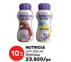 Promo Harga NUTRICIA Nutrinidrink UHT Cokelat, Vanila 200 ml - Guardian