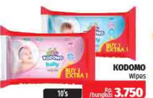Promo Harga KODOMO Baby Wipes 10 pcs - Lotte Grosir