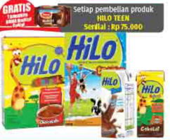 Promo Harga HILO Hilo Teen / UHT Teen  - Lotte Grosir