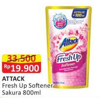 Promo Harga ATTACK Fresh Up Softener Sakura 800 ml - Alfamart