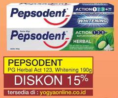 Promo Harga PEPSODENT Pepsodent Toothpaste Herbal / Whitening  - Yogya