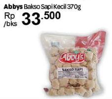 Promo Harga ABBYS Bakso Sapi Kecil 370 gr - Carrefour