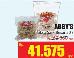 Promo Harga ABBYS Bakso Sapi Besar 50 pcs - Hari Hari