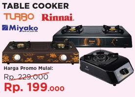 Promo Harga RINNAI Rinnai, Miyako Table Cooker  - Courts
