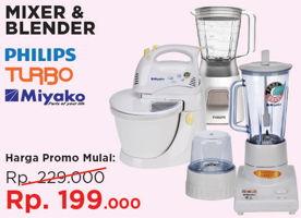 Promo Harga PHILIPS PHILIPS/TURBO/MIYAKO Blender  - Courts