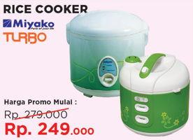 Promo Harga MIYAKO MIYAKO/TURBO Rice Cooker  - Courts