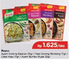 Promo Harga ROYCO Bumbu Nasi Goreng 17gr/ Ayam Bumbu 22gr/  Ayam Goreng 25g  - TIP TOP