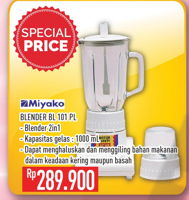 Promo Harga MIYAKO BL-101 Blender PL  - Hypermart
