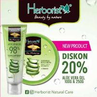 Promo Harga HERBORIST Herborist Aloe Vera Gel 100 gr & 250 gr  - Yogya