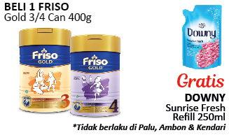 Promo Harga FRISO Gold 3/4 Susu Pertumbuhan 400 gr - Alfamidi