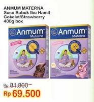 Promo Harga ANMUM Materna Chocolate, Strawberry 400 gr - Indomaret