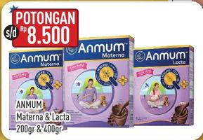 Promo Harga ANMUM ANMUM Materna/Lacta 200gr/400gr  - Hypermart